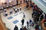 Flash Mob performance in Mahon Point Shopping Centre